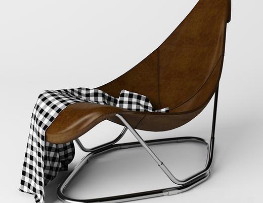 美式简约, 棕色, 椅子, 美式椅子