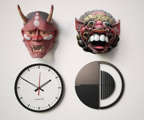 墻飾, 鬼臉, 現代墻飾