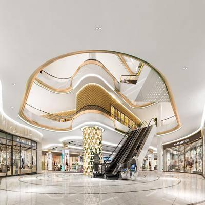 商场, 门面门头, 装饰柜, 展示柜, 摆件, 装饰品, 陈设品, 现代