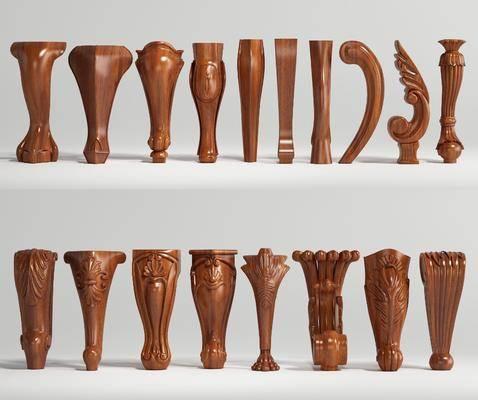 家具腿, 桌腳, 羅馬柱, 雕花組合, 歐式