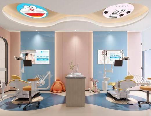 儿童诊所, 诊室, 工装