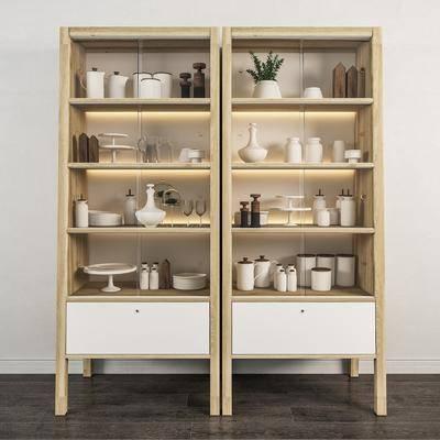 装饰柜, 置物柜, 现代, 北欧