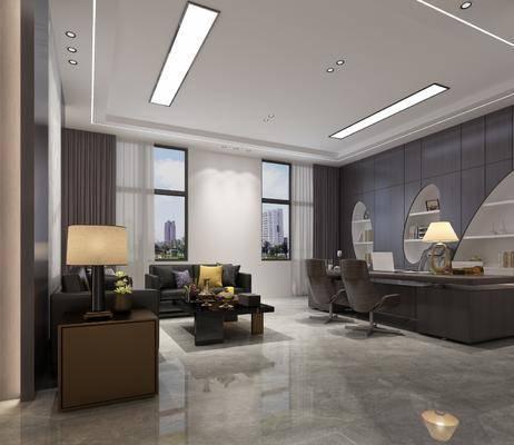 辦公桌, 辦公室, 桌椅組合, 沙發組合, 現代辦公室