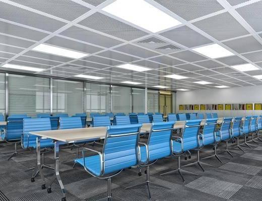 办公室, 会议桌, 单人椅, 现代简约