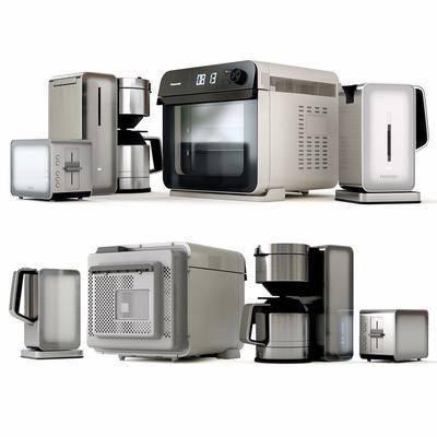 现代, 厨房, 电器, 设备, 单体