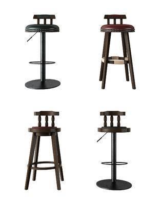 工业风, 美式, 吧椅, 吧凳