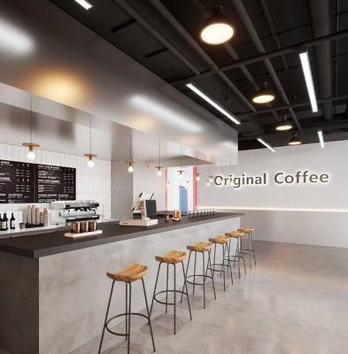 工业风, 咖啡厅, 工装