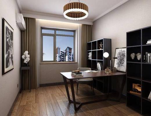 書房, 臥室, 桌椅組合, 床具組合, 邊柜組合, 裝飾柜, 擺件組合, 吊燈組合, 中式