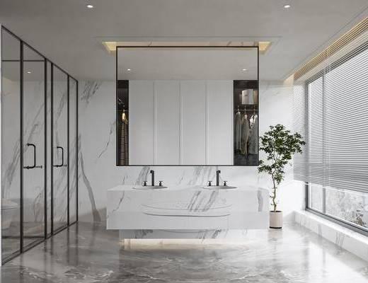 现代, 卫生间, 浴室, 卫浴, 家装