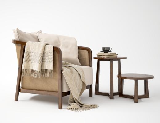 单椅, 藤椅, 现代藤椅, 单人椅, 茶几, 现代单人椅, 现代