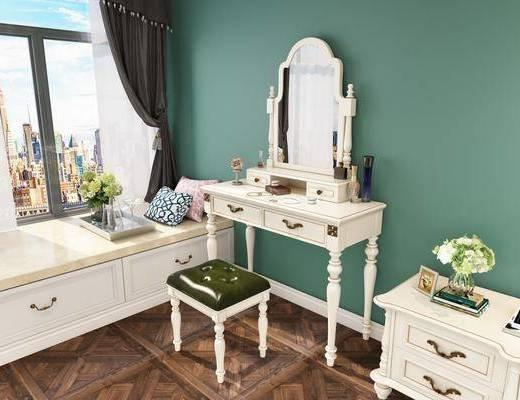 梳妆台, 桌椅组合