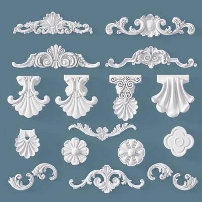 构件, 石膏, 雕花, 五金, 欧式, 简欧