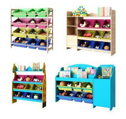 收纳柜架, 儿童玩具, 现代