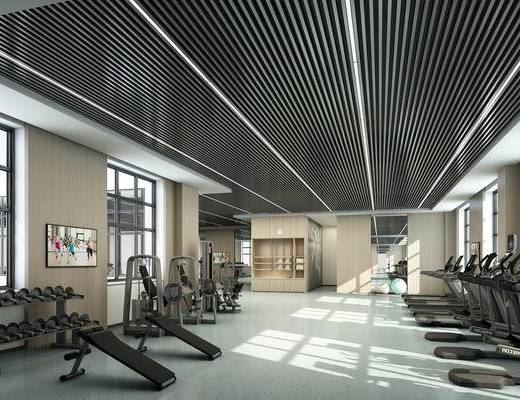 健身房, 健身器材, 运动器材, 器材, 工业风健身房
