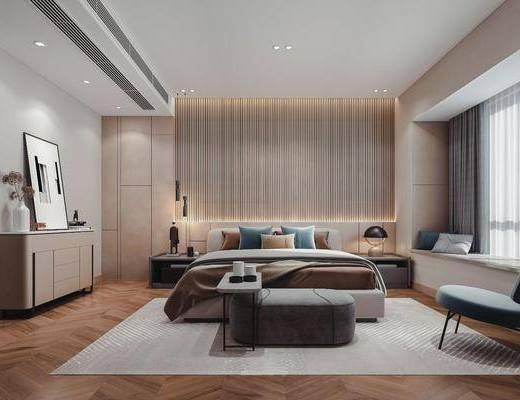 现代卧室, 极简卧室