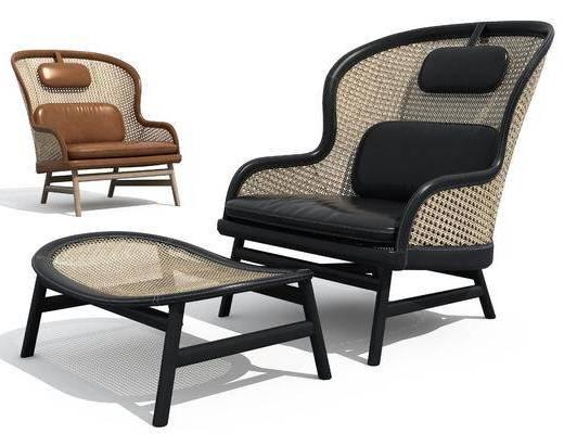 现代, 休闲, 3d模型, 椅子, 单体