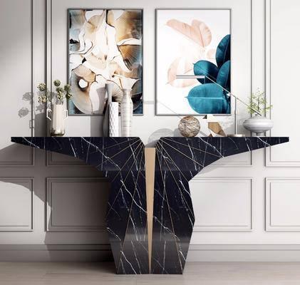 端景台, 摆件组合, 装饰画, 边柜组合