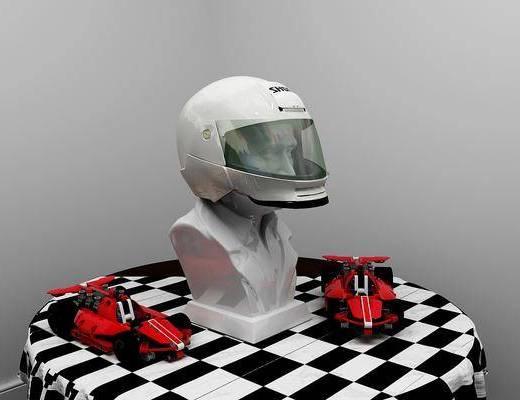 赛车头盔, 摆件组合, 现代