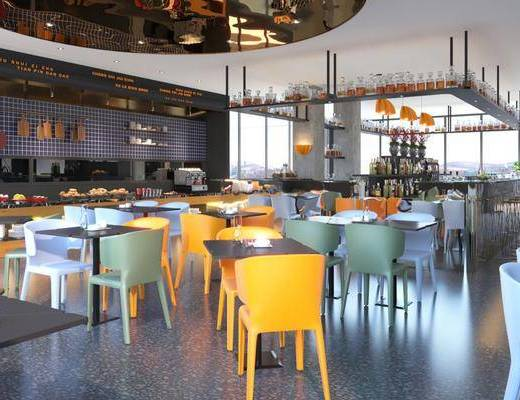 餐桌, 桌椅组合, 吊灯, 吧台, 单椅