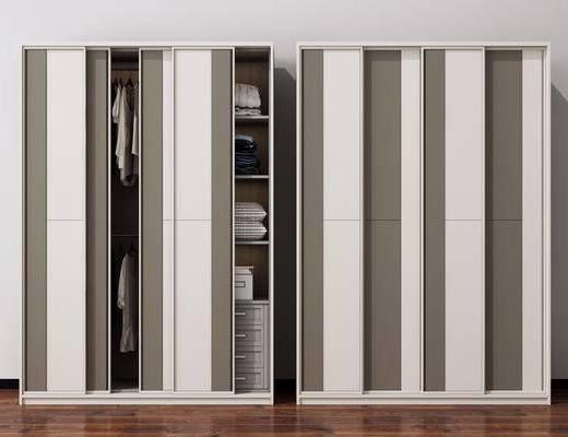 衣柜, 置物柜, 装饰品, 衣服组合