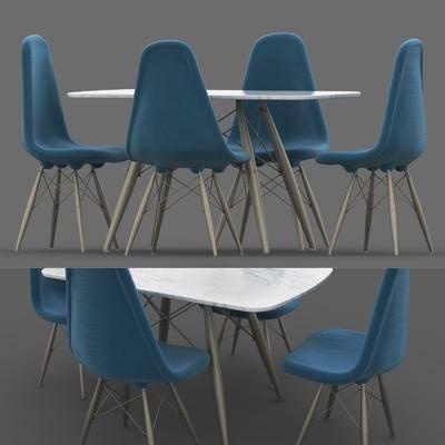 餐桌椅, 桌椅组合, 现代餐桌椅组合