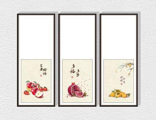 新中式装饰挂画组合