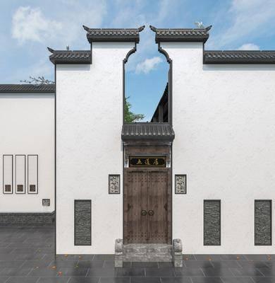 新中式, 徽派, 门头