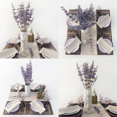 餐具, 花瓶花卉, 现代