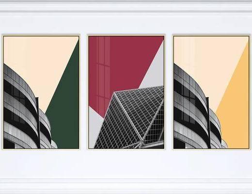 装饰画, 挂画, 建筑画, 艺术画, 组合画, 现代