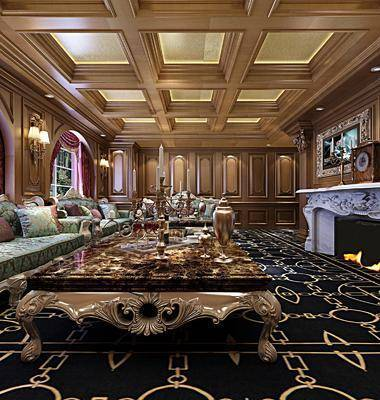 KTV, 欧式沙发, 沙发, 桌子, 欧式, 壁炉