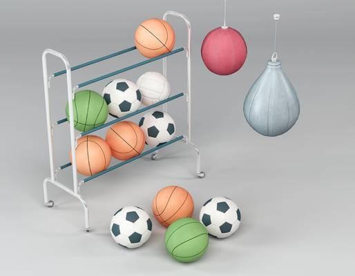 体育用品, 篮球, 足球, 现代, 体育器材