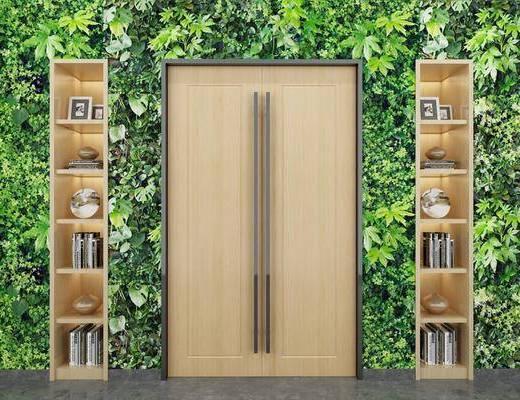 绿植墙, 装饰柜, 柜架组合