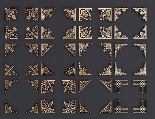 花角线, 雕花, 中式, 双十一