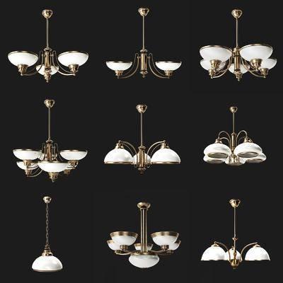 吊灯, 奢华, 欧式, 灯, 灯具