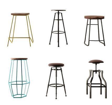 现代, 工业风, 吧椅, 吧凳