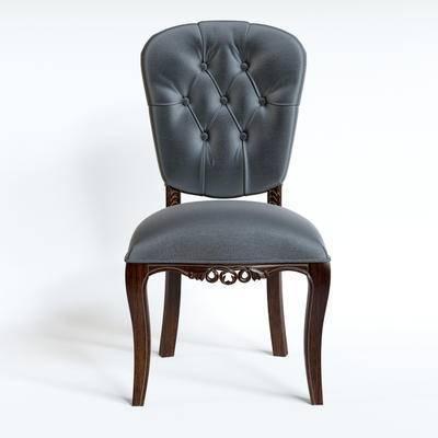 欧式, 单椅, 餐椅