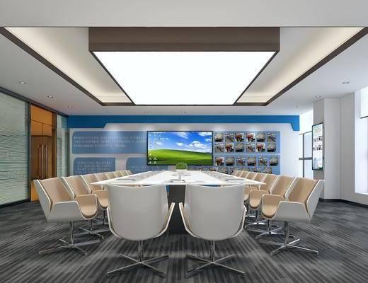 会议室, 多功能会议室, 现代会议室, 现代, 办公桌, 单椅