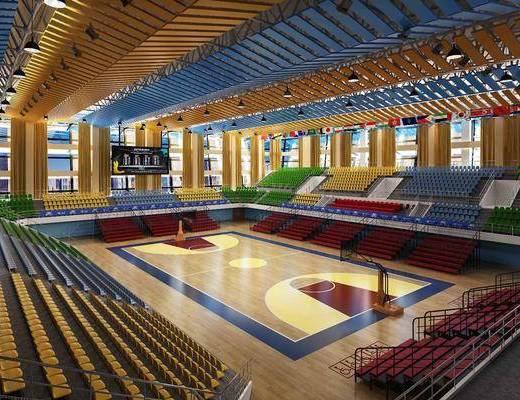 现代体育场, 现代篮球场, 现代体育馆