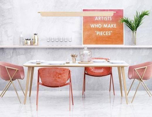 北歐餐桌, 北歐椅子, 桌椅組合, 餐桌組合