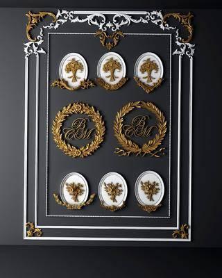 雕花, 构件, 欧式雕花, 墙饰, 金属雕花, 金属, 欧式