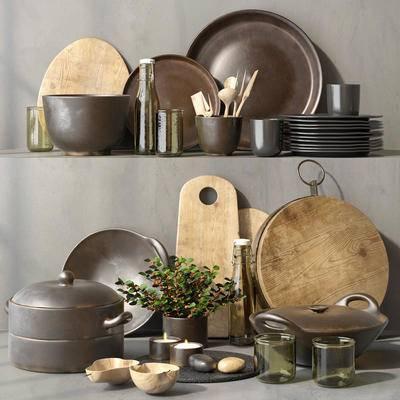 厨具, 现代, 北欧, 碗碟, 砧板, 菜板