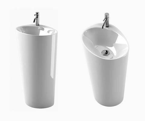 现代立式洗手台, 洗手盆, 台盆
