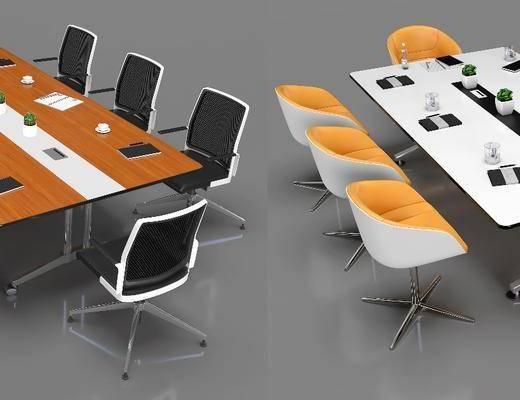 现代会议桌, 会议桌, 桌椅组合