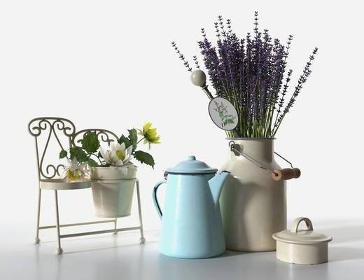 花瓶, 花卉, 植物, 摆件组合
