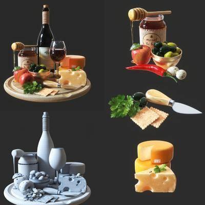 食物, 酒水, 苹果, 蜂蜜, 刀, 酒瓶, 现代