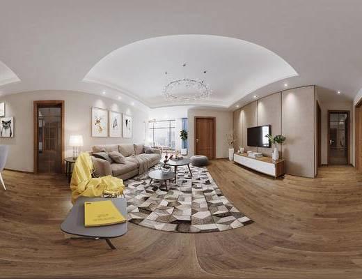 沙发组合, 现代, 沙发, 地毯, 电视柜, 北欧, 客餐厅, 餐厅, 餐桌椅, 沙发茶几组合, 桌子, 椅子, 休闲椅, 吊灯
