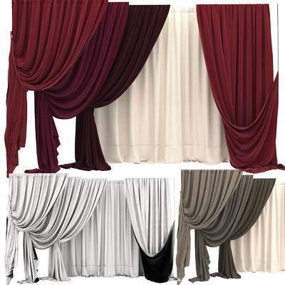 窗帘, 窗纱, 纯色窗帘, 客厅窗帘, 简约, 现代