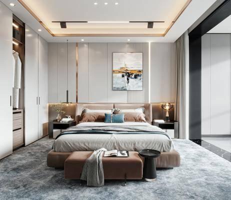 家装, 现代轻奢主卧室
