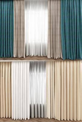 布艺窗帘, 窗帘组合, 现代