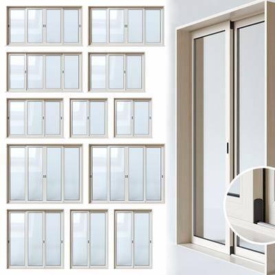 现代, 玻璃窗, 平开窗